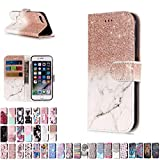 LA-Otter Coque Apple iPhone 5 5S Se Rose Or Blanc Flip Case Housse Etui à Rabat...