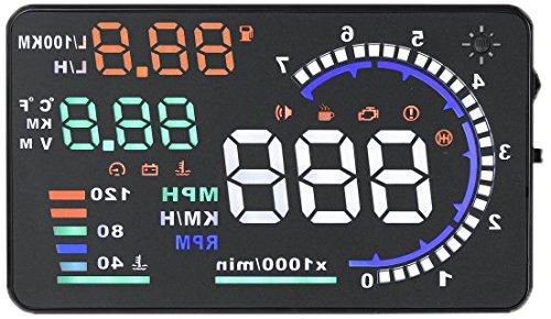 kkmoon A8HUD 5.5 Zoll-Auto-HUD Kopf Oben OBD2 OBDII Kraftstoffverbrauch