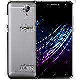 Handy Ohne Vertrag, DOOGEE X7S 4G Dual SIM Smartphone Günstig Android 6.0, 6 Zoll HD IPS Display, 1GB RAM 16GB ROM, MT6737 Quad Core Prozessor, 8 MP Hauptkamera mit Autofokus - Silber