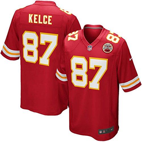 87 Travis Kelce Trikot Kansas City Chiefs Jersey American Football Trikot Mens Red Size L(44)