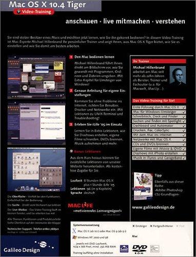 Mac OS X 10.4 Tiger - Das Video-Training auf DVD