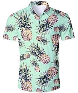 AIDEAONE Hombre Camisa de Fiesta
