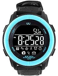 Montre de plongée ,Kivors Bluetooth Smartwatch Sport Montre Connectées Fitness Tracker d'activé avec Distance Calorie Appel Messager et Contrôle Caméra Sport Montre pour iPhone IOS and Android Smartphones