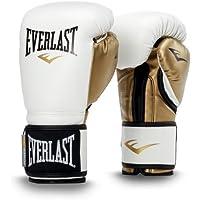 Everlast Power Lock Entrenamiento Gloves PU Caja Artículo, Todo el año, Unisex, Color White/Gold, tamaño 340 g