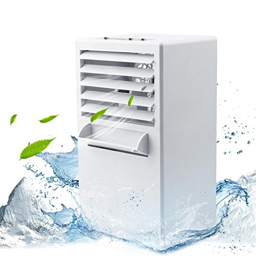 Aire Acondicionado Ventilador , 2 en 1 EEIEER Mini Refrigerador de aire Portátil Personal Ventilador Humidificador para Hogar/Oficina/Sala