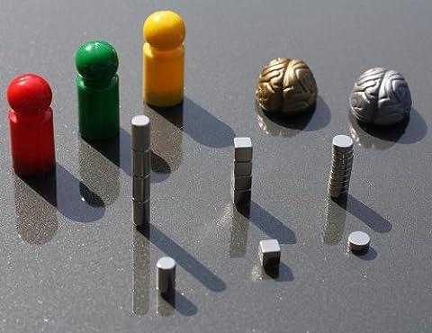 Aimant en néodyme 25 pièces-seriöse de plaisir-aimants - : représentation d'un), cerveau en dés, cylindres, en couleurs suspendus pinnwand-/tissé pour tableau magnétique/adh aimants