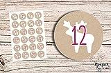 24 Advents-Aufkleber
