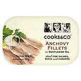 Cooks & Co Filetes De Anchoa En Aceite De Girasol (365g) (Paquete de 6)