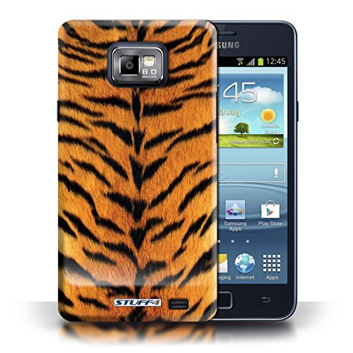 Coque en plastique pour Samsung Galaxy S2/SII Collection Motif Fourrure Animale - Chien Tigre