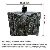 Aodoor Regenjacken Regenponcho wasserdicht regenmantel für die Jagd Camping, Freizeit Regenmantel, Camouflage Rain Poncho - 3