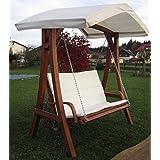 Design Hollywoodschaukel Gartenschaukel Hollywood Schaukel aus Holz Lärche mit Dach Modell: 'KUREDO 103' von AS-S