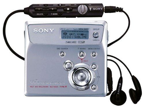 Sony MZ-N505/S MiniDisc-Rekorder silber