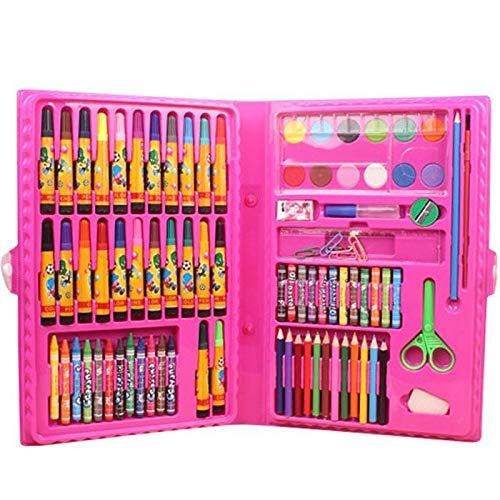 Biuday Edited Kids Drawing Pen Aquarell Buntstifte Set Box Zeichenwerkzeuge Künstlerbed Marker & Filzstifte