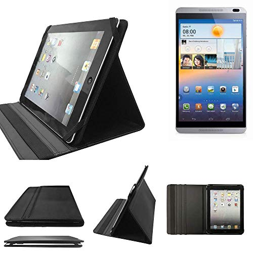 K-S-Trade Huawei MediaPad M1 8.0 Schutz Hülle Business Case Tablet Schutzhülle Flip Cover Ultra Slim Bookstyle Tasche für Huawei MediaPad M1 8.0, schwarz. Kunstleder Qualitätsware - K