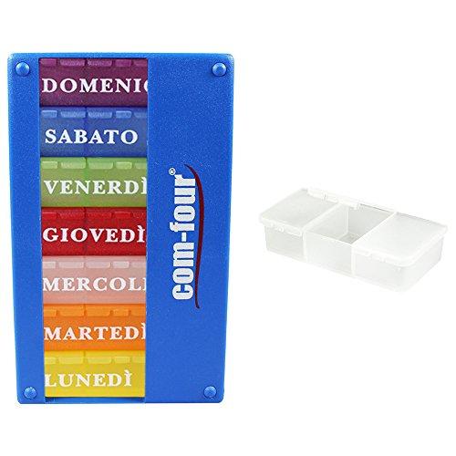 com-fourr-dosatore-medicinale-7-giorni-scatola-della-pillola-pill-box-organizzatore-settimanale-matt