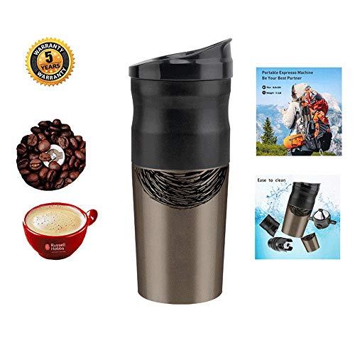 Portable Coffee Maker Electric Mini Espresso Machine Coffee Machine Grinder Grain Tragbare Kaffeemaschine Elektrisch for The Car Camping Outdoor Activities Trave USB Ladebuchse