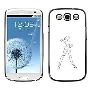 Ihec Tech / Art Robot corps humain Croquis dessin au crayon / Coque Etui Coque étui de portefeuille protection Coque Case Cas / for Samsung Galaxy S3