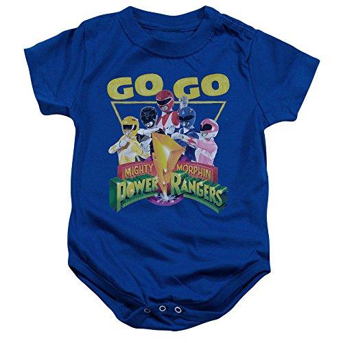 Power Rangers - - Toddler Go Go Onesie, 6 Months, Royal Blue