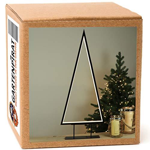 LED Weihnachtsbeleuchtung Tanne 69 cm Metall für innen Tischleuchte/Stehleuchte Weihnachten