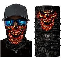 N24 Fuego Cráneo Máscara de polvo protectora tubular Pañuelo Motocicleta Bufanda de poliéster Cara Calentador de cuello para snowboard Paintball Esquiar Motocicleta Ciclismo