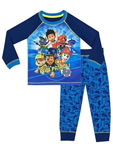 Paw Patrol Jungen Ryder Chase Marshall Schlafanzug, Mehrfarbig, 98 (Herstellergröße: 2-3 Jahre)