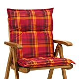 4 Sessel niedrig Auflagen 8 cm dick 103 cm lang in rot Ibiza 10174-3 (ohne Stuhl)