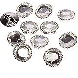 20 x 25 mm plateado cristal caras similares a botones de diamantes de cristal de diseño de leska hamaty