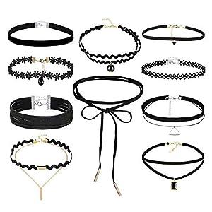 3er Set Henna Tattoo Halsband Elastisch Halskette Armband Ring Fußkette Schmuckset Choker Schmuck Kette