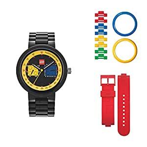 lego montre lego adulte two by two homme noire et jaune montres. Black Bedroom Furniture Sets. Home Design Ideas