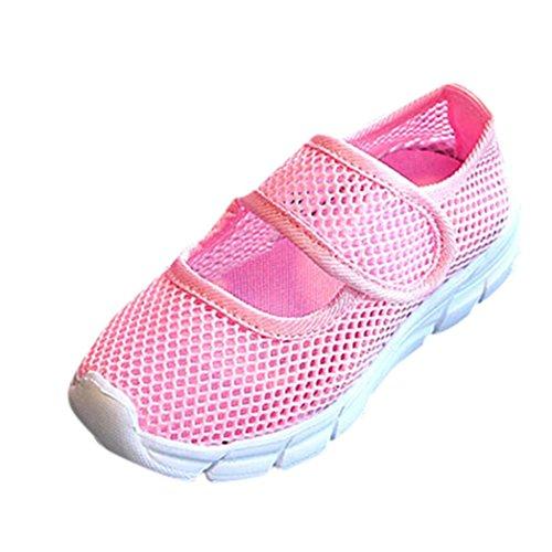 IGEMY Kinder Sneaker - Baby Jungen Mädchen Geschlossene Zehe Sportschuhe Casual Mesh Sneakers Laufschuhe (31, Rosa)
