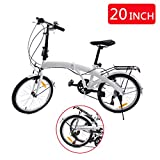 Best Folding Bicycles - Ridgeyard 20 Inch 6-Speed Folding Foldable Bicycle Review