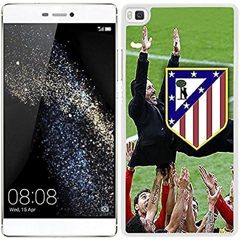 FUNDA CARCASA PARA Huawei P8 Lite DISEÑO FÚTBOL ATLÉTICO DE MADRID ESCUDO CON CHOLO