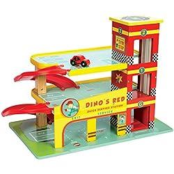 Le Toy Van - Il garage di Dino, colore: Rosso
