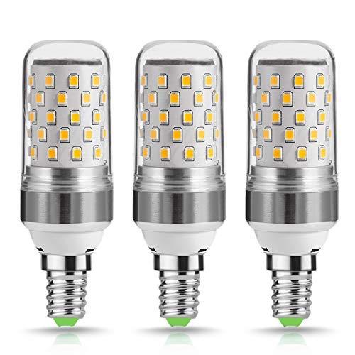 3er 9W E14 LED Kerze Lampen, Techgomade 80Watt Glühlampe äquivalent, 2700K warmweißes LED-Kandelaber-SES-Glühlampen, Nicht Dimmbar, 1000 Hoch Leuchtende E14-Kerzenlampe