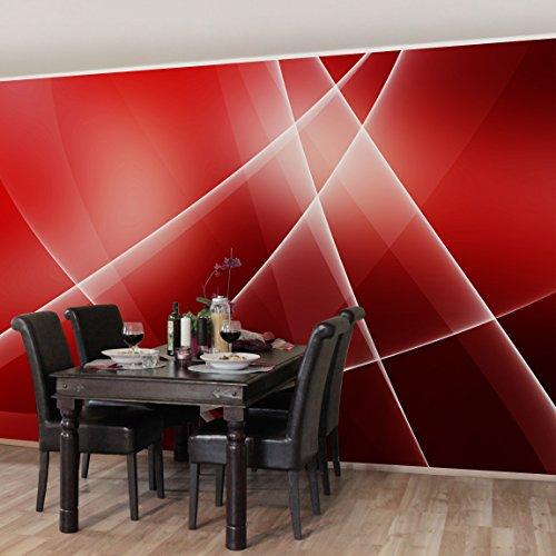 Apalis Vliestapete Red Turbulency Fototapete Breit   Vlies Tapete Wandtapete Wandbild Foto 3D Fototapete für Schlafzimmer Wohnzimmer Küche   rot, 95001