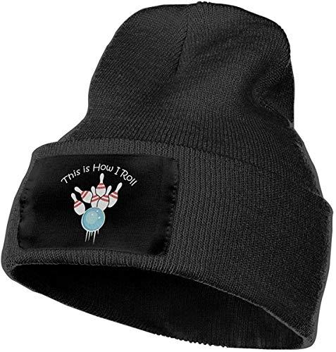 IMERIOi Unisex Dies ist, wie ich Rolle Bowling Outdoor-Mode Strickmützen Mütze Soft Winter Knit Caps14143