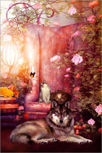 Posterlounge Leinwandbild 120 x 180 cm: Einen Platz zum Ausruhen von Selina Morgan - fertiges Wandbild, Bild auf Keilrahmen, Fertigbild auf echter Leinwand, Leinwanddruck