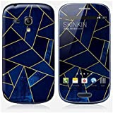 Sticker Samsung Galaxy S3 mini de chez Skinkin - Design original : Blue stone with gold lines par Elisabeth Fredriksson