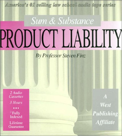 Product Liability (Set of 2 Audio Cassettes) (The Outstanding Professor Audio Tape Series) (Tape Set Cassette 2)