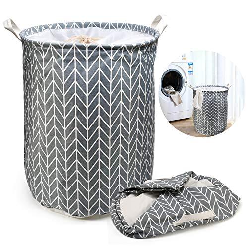 Ballery cesto portabiancheria grande, portabiancheria di grandi dimensioni, grande cesto biancheria pieghevole con manico (grigio)