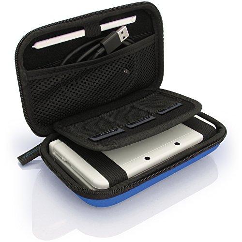 iGadgitz U3606 - Eva Hart Schutzhülle Kompatibel mit Nintendo 3DS (Nicht FÜR 3DS XL) - Blau - Ds Travel Nintendo Kit