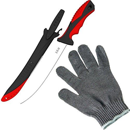 Filetier-Messer-Set - DAM Filetiermesser und Behr Edelstahl Filetierhandschuh