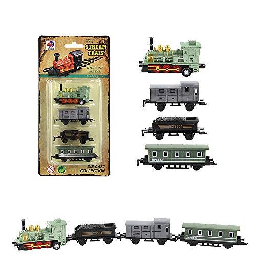 MA87 Zug Modell Kind Kind Spielzeug Geschenke Neue Klassische Legierung Retro steam Simulated Joint (Grün)