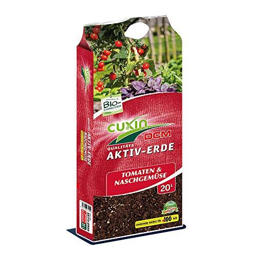 Cuxin Bio Tomatenerde 20-80 l ● Erde für Tomaten und Gemüse mit 100 Tage Dünger ● für gesunde und kräftige Pflanzen ✅+Bodenanalyse-Gutschein (20l) - 20 20 Bio-dünger 20