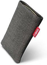 fitBAG Jive Grau Handytasche Tasche aus Textil-Stoff mit Microfaserinnenfutter für Apple iPod Classic