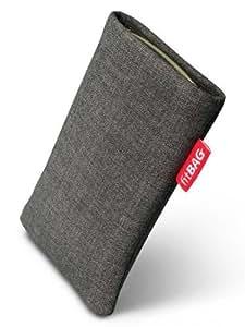 fitBAG Jive Grau Handytasche Tasche aus Textil-Stoff mit Microfaserinnenfutter für Samsung Google Galaxy Nexus i9250 (Neues Modell ab Oktober 2011)