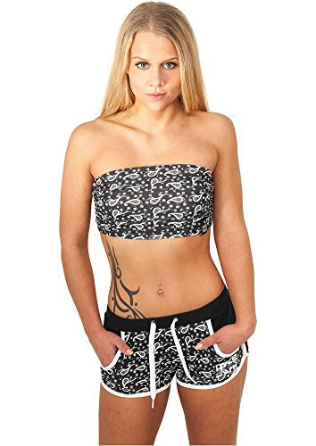 Urban Classics Hotpants Paisley , Farbe:black paisley;Größe:L