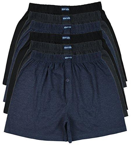 TOPANGEBOT 12 oder 6 Boxershorts farbig weich und locker in 3 neutralen Farben Original MioRalini Unterhose Short Boxer (XXL-8, 6 Stück) (Set Short Boxer)
