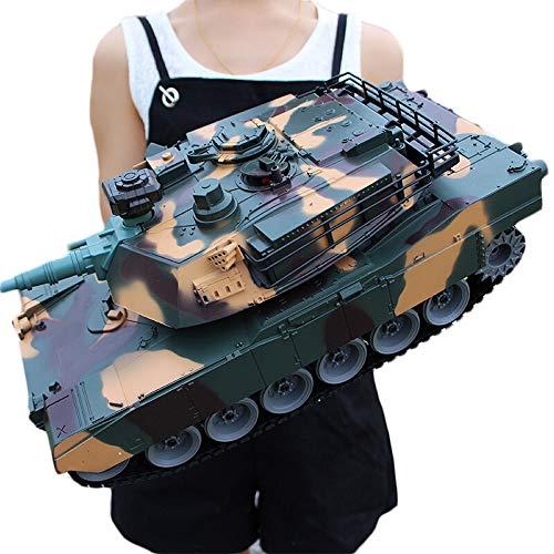 Ycco Carga del Tanque de Control Remoto Carro de Juguete RC Tanque con Cable de Cargador USB Control Remoto Tanque Panzer 1:18 German Tiger I con Soun Rotating PL2850 Tanque en un Juego de estaño