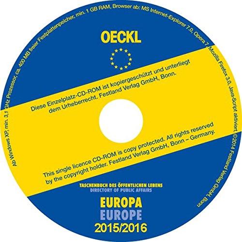 Oeckl Taschenbuch des Öffentlichen Lebens Europa 2015/2016, CD-ROM; Directory of Public Affairs Europe and InternationalDeutsch / Englisch